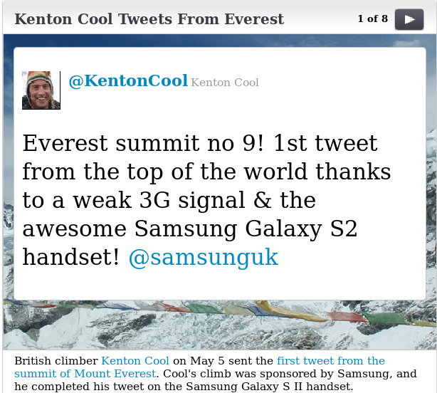 Most disturbing tweet of the month... from Mount Everest? /img/sadtweet.png